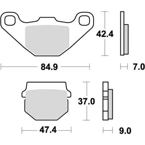 SBS モトクロッサー用ブレーキパッド 777-0544077