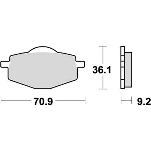 SBS ロードスポーツ専用ブレーキパッド 777-0575030
