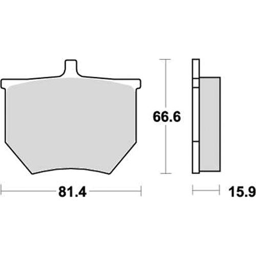 ロードレース専用ブレーキパッド 777-0569080