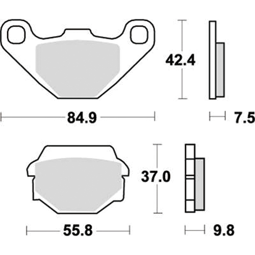 SBS ロードスポーツ専用ブレーキパッド 777-0586030