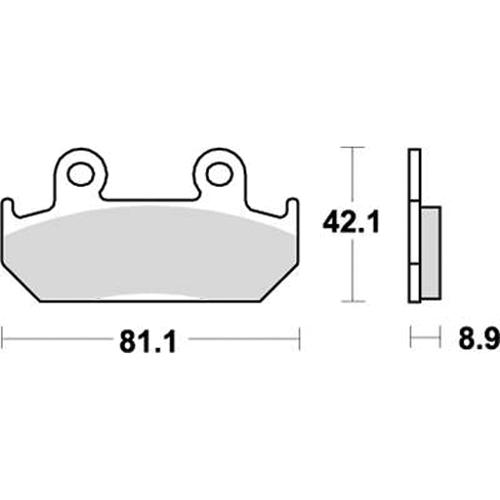 SBS ロードレース専用ブレーキパッド 777-0593080