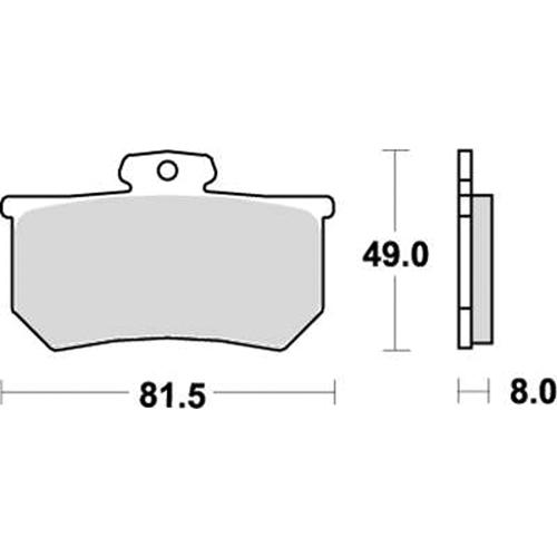 SBS ロードレース専用ブレーキパッド 777-0599080