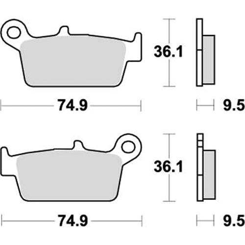 SBS モトクロッサー用ブレーキパッド 777-0604077