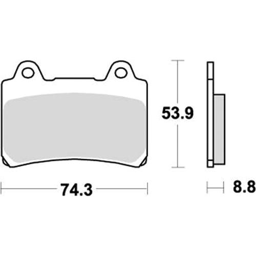 SBS ロードスポーツ専用ブレーキパッド 777-0613020