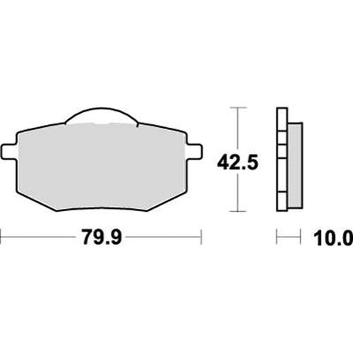 SBS ストリート用ブレーキパッド 777-0616000
