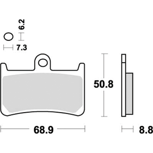 SBS 耐久ロードレース用ブレーキパッド 777-0634081