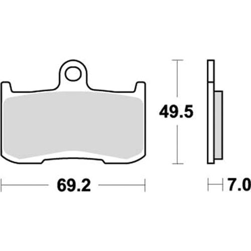 SBS 耐久ロードレース用ブレーキパッド 777-0782081