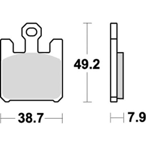 SBS 耐久ロードレース用ブレーキパッド 777-0788081