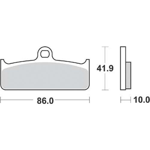 SBS 耐久ロードレース用ブレーキパッド 777-0825081