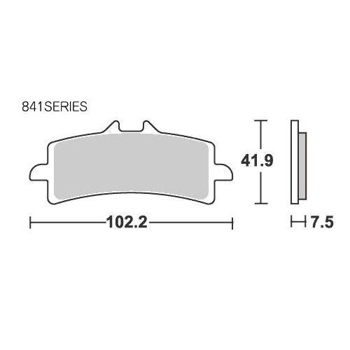 SBSブレーキパッド 841RSDUCATI1098 S