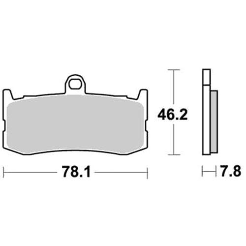 SBS スプリントレース専用ブレーキパッド 777-0864088