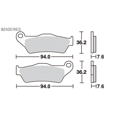 SBS ブレーキパッド 924 HS HD500/750STREET