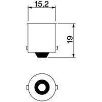【ケース売り】A2233E 12V5W BA15s