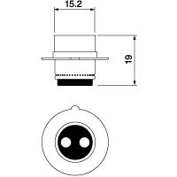 【ケース売り】A4035 12V30/30W P15d-25-1