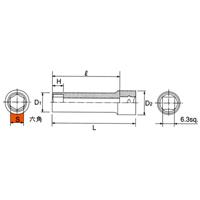 B2L-14 6.3sq.(1/4DR) ディープソケット(6角) 14mm