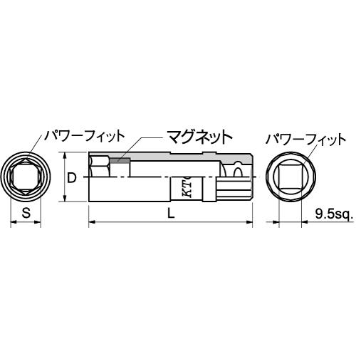 B3A-13P 9.5sq. プラグレンチ 13mm