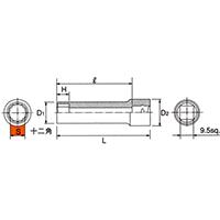 B3L-08W 9.5sq.(3/8DR) ディープソケット(12角) 8mm