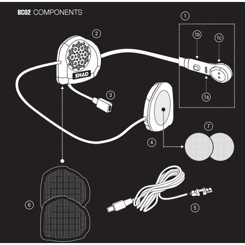 BC02 Bluetoothインカム ハンズフリーキット