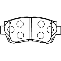 D2088-02 ブレーキパッド