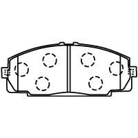 D2104-02 ブレーキパッド