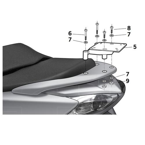Soporte Baul Shad Para Honda Forza 250 H0FR29ST