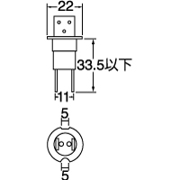 0452 H3c(二脚) 12V55W クリアー