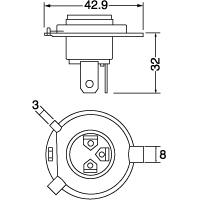 0551 H4U 12V60/55W クリアー