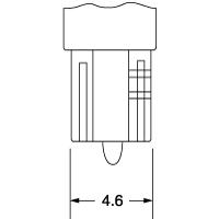 【ケース売り】1584 12V1.2W W2×4.6d クリア