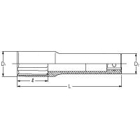 1/2'sqホイールナット用薄肉ソケットL110mm 4300M-19(L110)