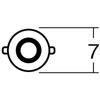 【1個売り】B5410RE 12V23/8W BAY15D レッド