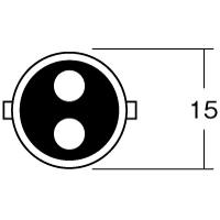 12V23/8W BA15D(平行ピン)