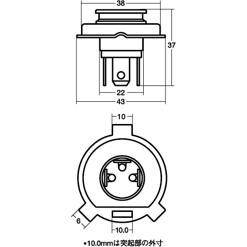 HS1 12V35/35W(クリア) ヘッドライト球