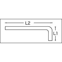 六角棒レンチセット 213-1/4 単品
