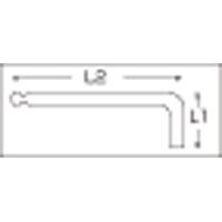 ショートヘッド六角棒レンチセット 2212L-3 単品