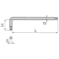 SUS ロングボールポイントL形レンチ SBL-2.5
