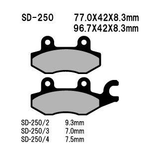 SD-250/4 ブレーキパット
