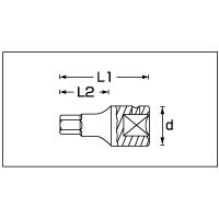 (1/4SQ)インヘックスソケット 44K-6