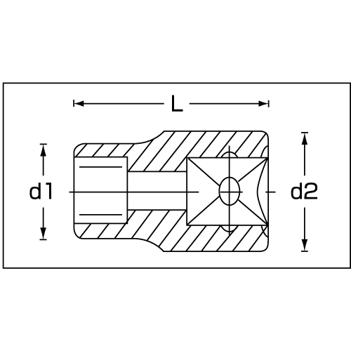 (3/8sq)ヘクスローブソケット(E型) 45TX-E10 単品