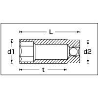 (3/8SQ)ディープソケット (12角) 46-11