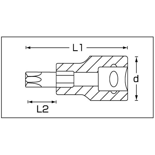(3/8sq)トルクスソケット 49TX-T40 単品