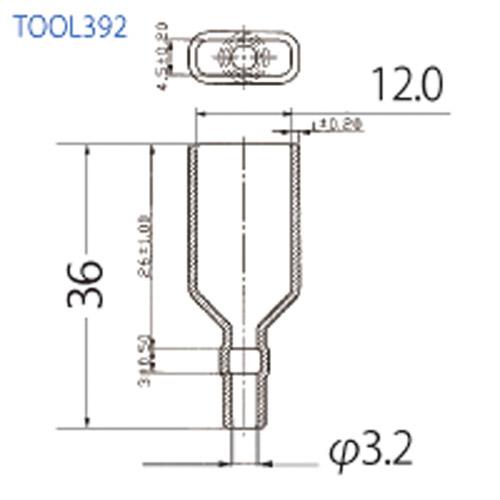 絶縁チューブ 平型端子メス用 TOOL392