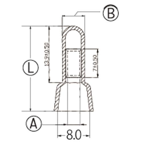 絶縁被覆付閉端接続子 (CE型) 2.0sq