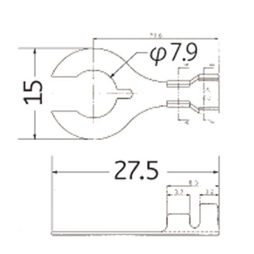 クワ型ターミナル端子 0.75-2.0sq