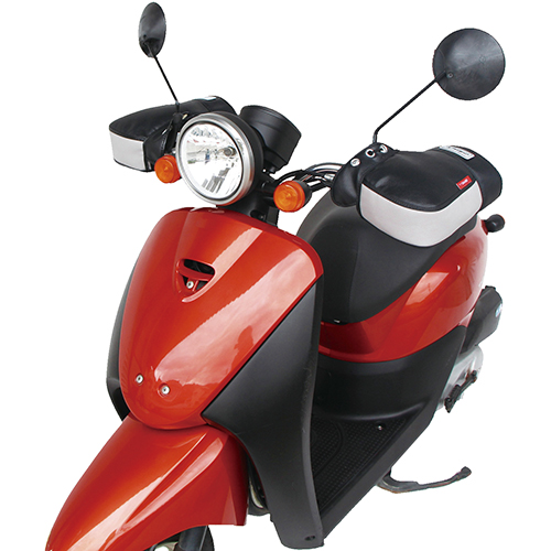 【季節商品】F1SM-3650 バイク用防寒ハンドルカバー F1-スマート オレンジ
