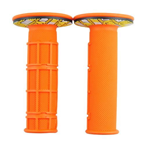 ハンドルグリップ オフロード用 オレンジ 118mm