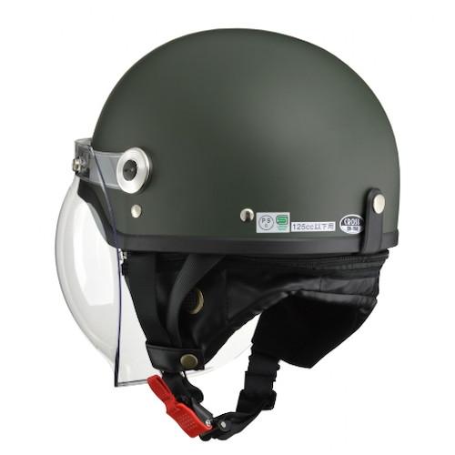 CROSS CR-760 ハーフヘルメット マットグリーン