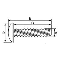 ウインカー&ボディ用ビス 十字穴付/トラス/2種タッピング M4×14 0900-046-09103