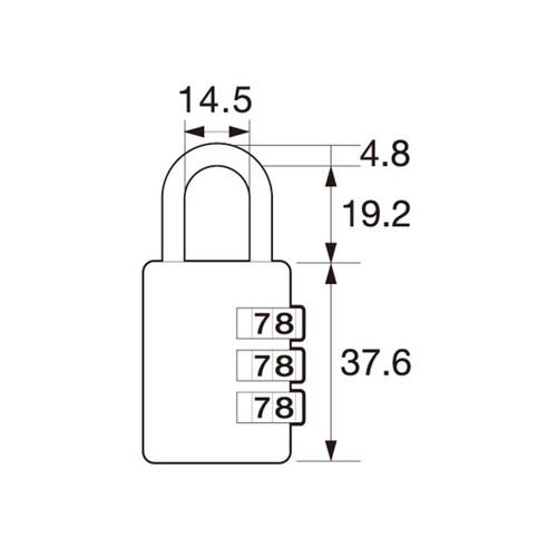 しっかり丈夫な可変式文字合わせ錠 IB-124