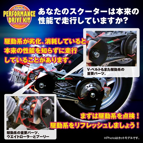 CVT-044-F ハイパフォーマンスドライブキット(プーリー/ベルト)