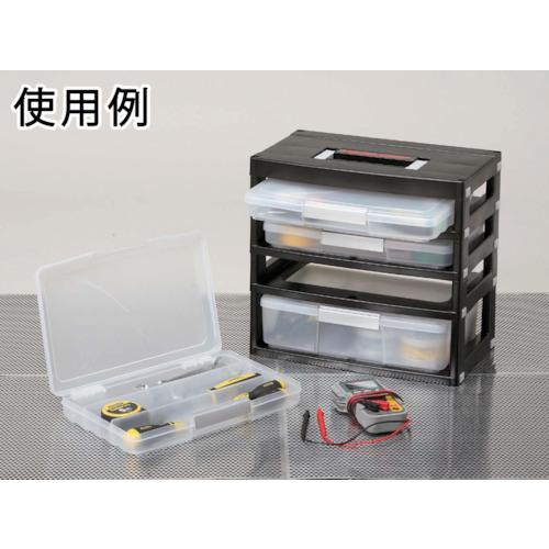 【取扱終了】工具収納 ツールケースストッカー4段 418×247×390 黒